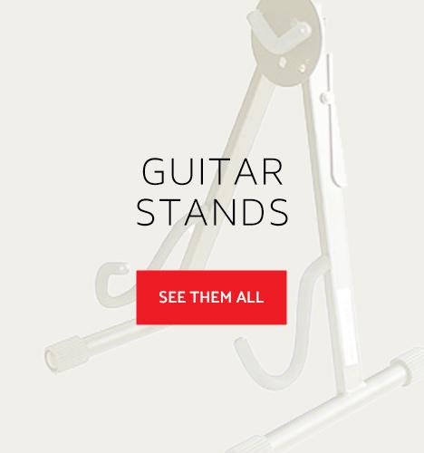 Closeup of guitar stand