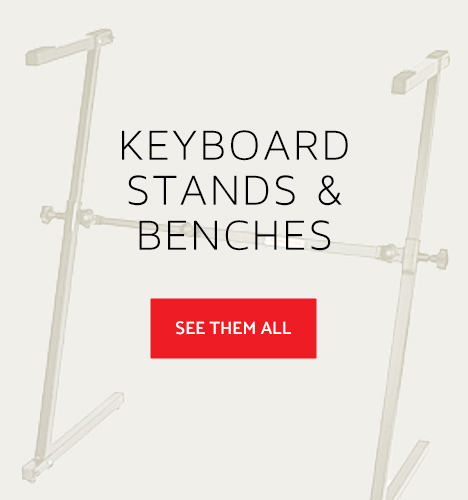 closeup of keyboard stand