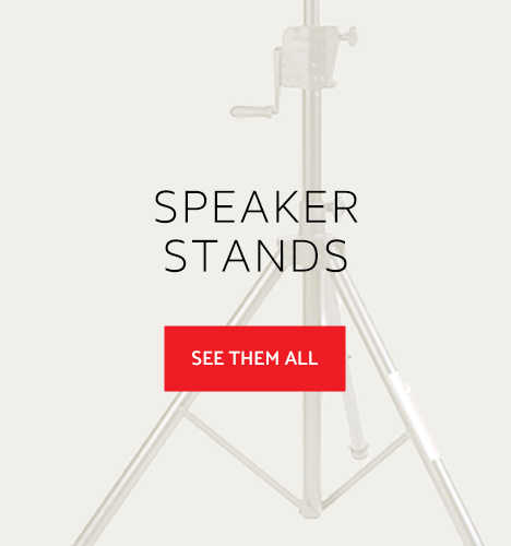 Closeup of speaker stand
