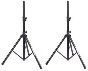 two Stageline speaker stands