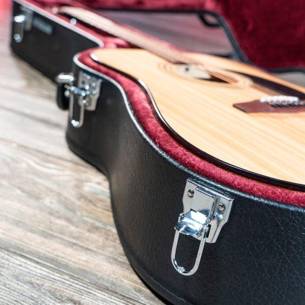 Acoustic guitar inside Stageline Acoustic Guitar Case